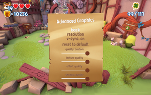 In-game advanced graphics settings.