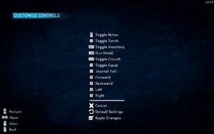 In-game keyboard remapping