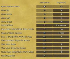 Control settings (Field and Menus)