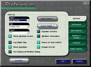 In-game general preferences.