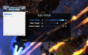 Launcher and in-game audio settings.