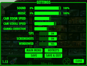 Settings (In-game)