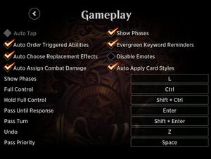 In-game gameplay menu.
