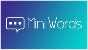 Mini Words - minimalist puzzle cover