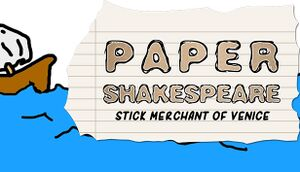 Paper Shakespeare: Stick Merchant of Venice cover