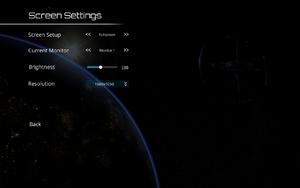 In-game screen settings.