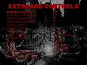 In-game keyboard controls menu.