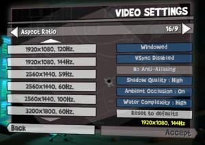 Video settings (AMD GPU)