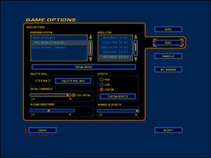 In-game general graphics settings.