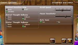 Interface and Input Settings