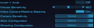 Controls settings (Mass Effect)