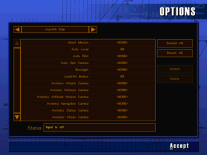 In-game joystick button map settings.