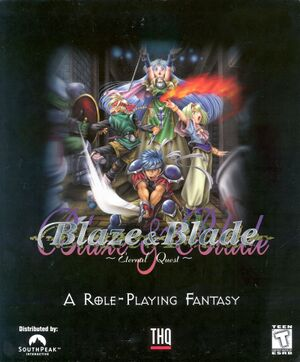 Blaze & Blade: Eternal Quest cover
