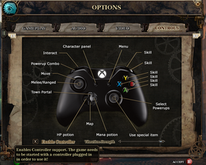 Controller bindings and settings.