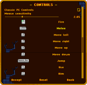Controls Settings (Keyboard+Mouse)