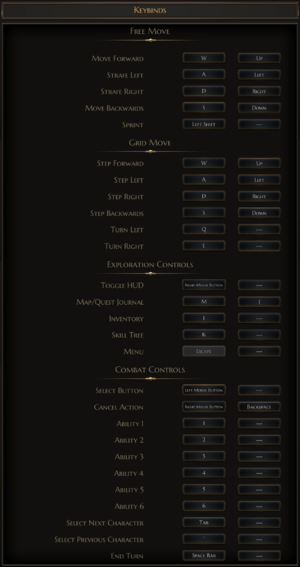 In-game keybinds.