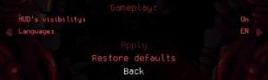 Gameplay settings.
