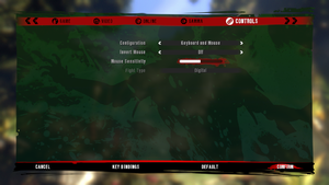 In-game keyboard/mouse settings.