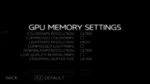 GPU Memory Settings