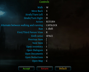 In-game keyboard mapping menu.