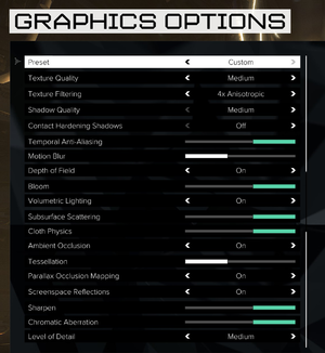 Graphics Options.