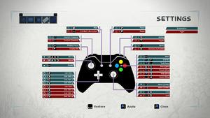 In-Game control scheme.