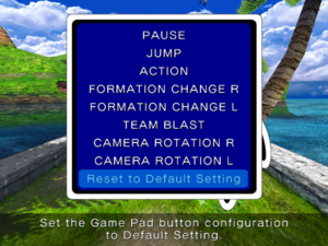 Controller remapping from in-game Pause menu.