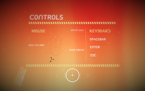 Keyboard and mouse controls.