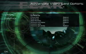 In-game advanced video settings (for GPU, 1/2).