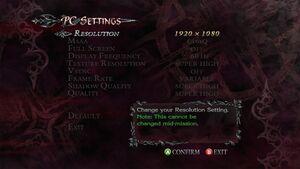 PC settings.