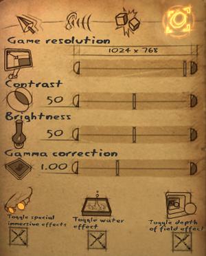 Display settings[Note 4]
