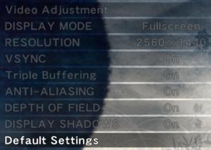 Screen settings