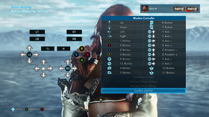 Remap menu for DirectInput controllers and keyboards.