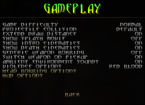 Gameplay (General) settings.