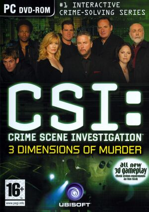 CSI: 3 Dimensions of Murder cover