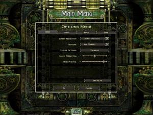 Video settings for Legends of Aranna.