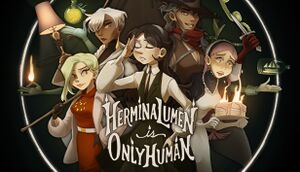 Hermina Lumen is Only Human cover