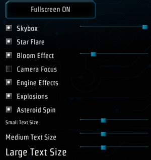 Internal graphics settings.