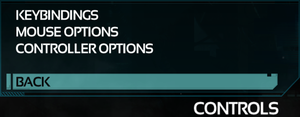 Control Settings Menu.