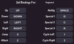 In-game keyboard bindings.